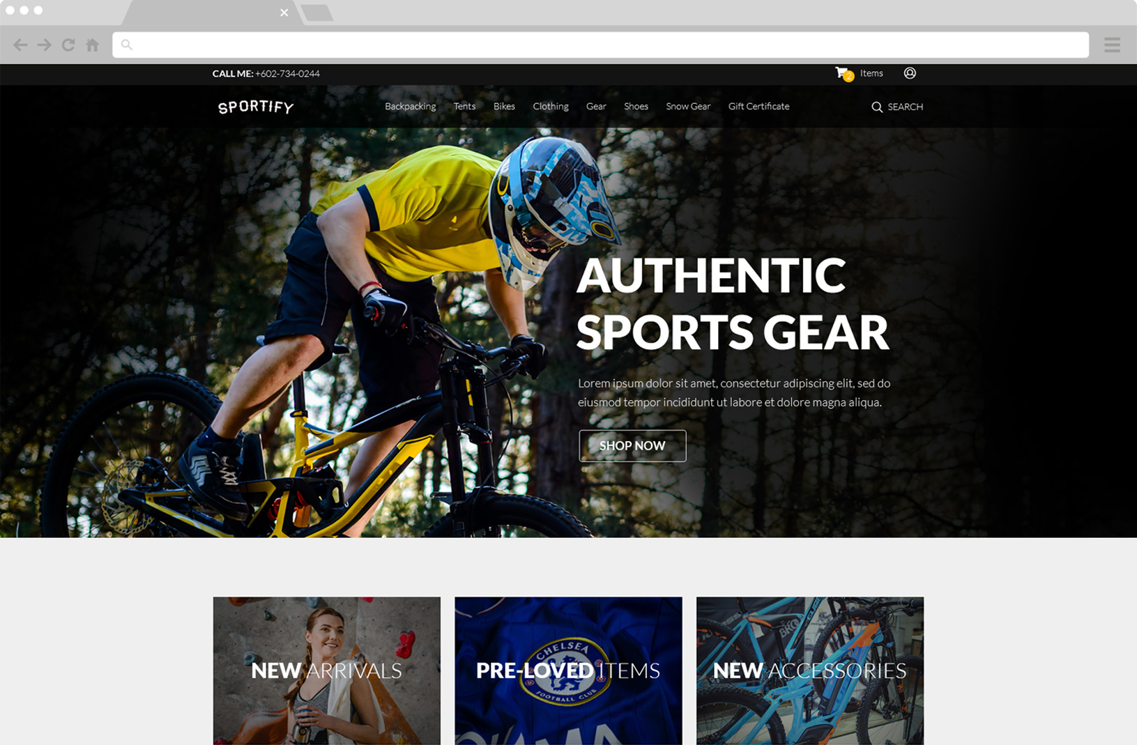 Sportify Website Image