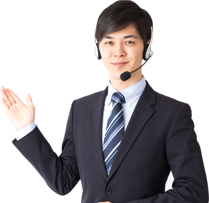 Smiling inbound customer support agent