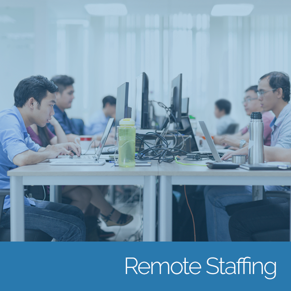 Team of remote staffers